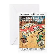 Flying Car Tom Swift Greeting Card