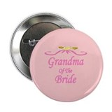 Grandma Of The Bride Wedding Button