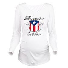 puerto rico b Long Sleeve Maternity T-Shirt