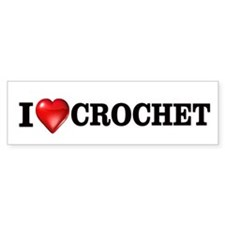 I love crochet Bumper Car Sticker