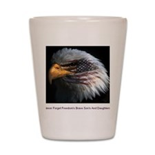 eagle with text Shot Glass