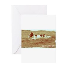 Flying Rat Terrier Greeting Cards