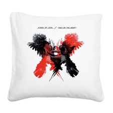 kings_of_leon_OBTN_cover_sele Square Canvas Pillow
