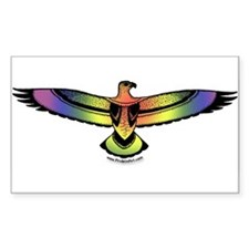 Eagle Rainbow Pride Sticker (Rect.)
