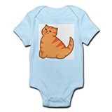 Happy Fat Orange Cat Infant Bodysuit