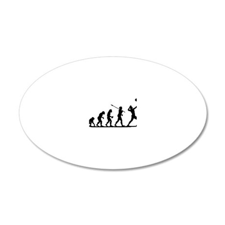 Volleyball 20x12 Oval Wall Decal