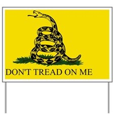 2-Gadsden Flag - DONT TREAD ON ME #6 Yard Sign