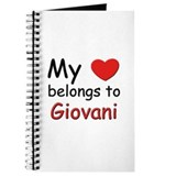My heart belongs to giovani Journal