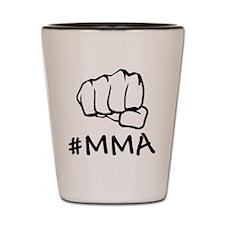 #mma fist 2000 black Shot Glass