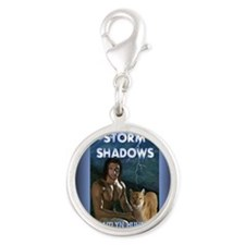 Storm Shadows rect mag Silver Round Charm
