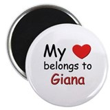 My heart belongs to giana Magnet