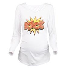 kick-bang-T Long Sleeve Maternity T-Shirt