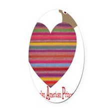 heartprincess Oval Car Magnet