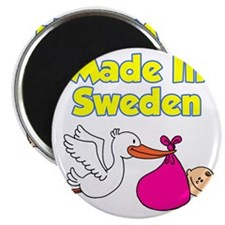 Made In Sweden Girl Magnet