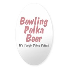 I'm Polish Oval Decal