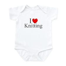 """""""I Love (Heart) Knitting"""" Infant Bodysuit"""