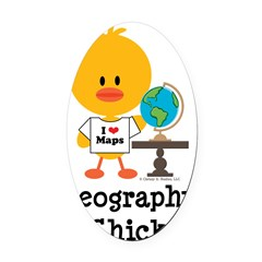 GeographyChick Oval Car Magnet