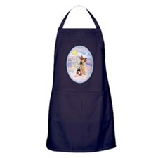 OvOrn-Clouds-German Shepherd 1 Apron (dark)