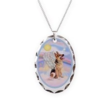 OvOrn-Clouds-German Shepherd 1 Necklace