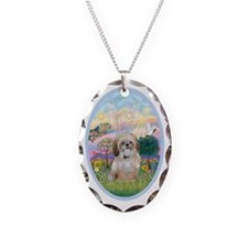 OvOrn-Cloud Angel - Shih Tzu ( Necklace