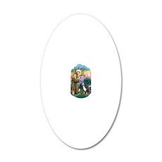 St Francis 2B-Bernese Mounta 20x12 Oval Wall Decal