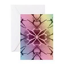 dancer rainbow3 tshirt2 Greeting Card