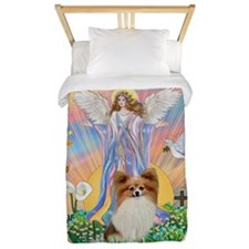 Angel Blessings - Papillon (fawn) Twin Duvet