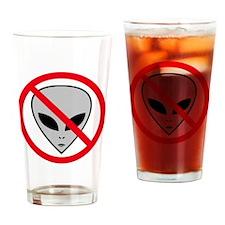 Anti Alien Drinking Glass