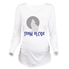 Team-Alcideblack Long Sleeve Maternity T-Shirt