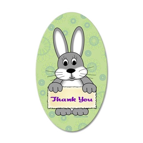 Portia Green Thank You 35x21 Oval Wall Decal