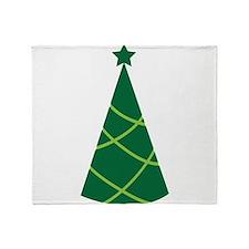 Simple greenie Christmas tree Throw Blanket
