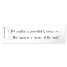 Gymnastics Mom's Bumper Bumper Sticker
