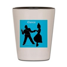 iDance_BlueBG_SquareTile Shot Glass
