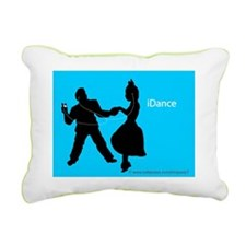 iDance_BlueBG_PanelPrint Rectangular Canvas Pillow