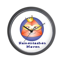 Hamentashen Maven Wall Clock