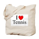 &quot;I Love (Heart) Tennis&quot; Tote Bag