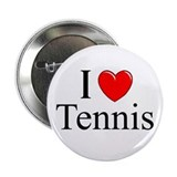 """I Love (Heart) Tennis"" 2.25"" Button"
