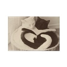 Love in Black and White (vintage) Rectangle Magnet