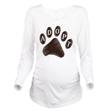 2-adopt claw Long Sleeve Maternity T-Shirt