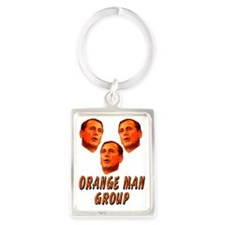 Orange man group2 Portrait Keychain