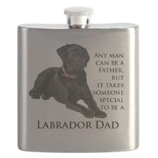 Black Lab Dad Flask