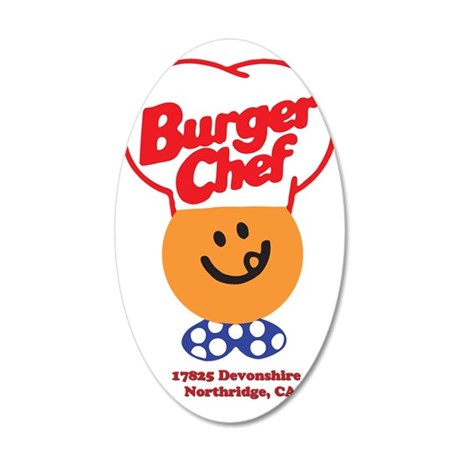 Burger Chef Northridge Lite 35x21 Oval Wall Decal
