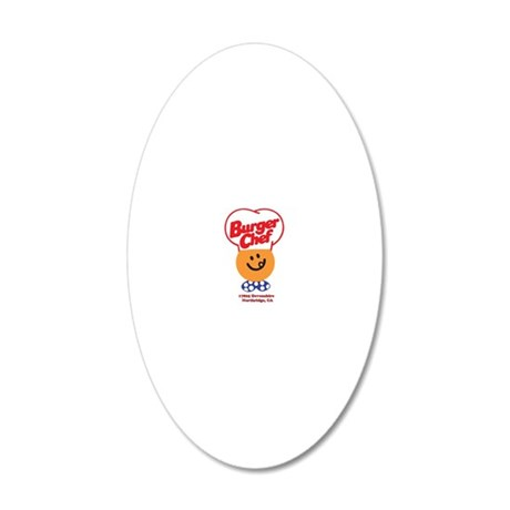 Burger Chef Northridge Lite 20x12 Oval Wall Decal