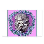 Gray Poodle Postcards (Package of 8)