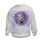 Gray Poodle Kids Sweatshirt