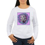 Gray Poodle Women's Long Sleeve T-Shirt