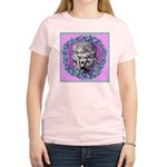 Gray Poodle Women's Pink T-Shirt