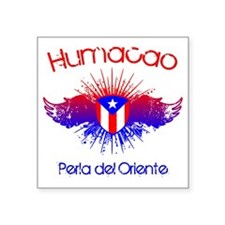 "Humacao W Square Sticker 3"" x 3"""
