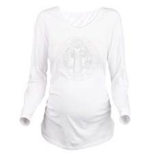 St. Benedict Medal F Long Sleeve Maternity T-Shirt