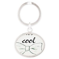 bev left - Bowties Oval Keychain
